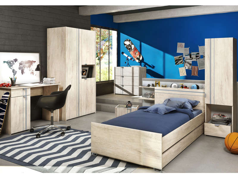 lit 90x190 cm slam vente de lit enfant conforama. Black Bedroom Furniture Sets. Home Design Ideas