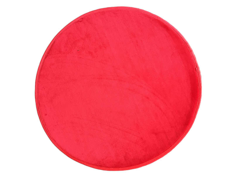 tapis rond 70 cm miki round coloris rouge vente de tapis enfant conforama. Black Bedroom Furniture Sets. Home Design Ideas