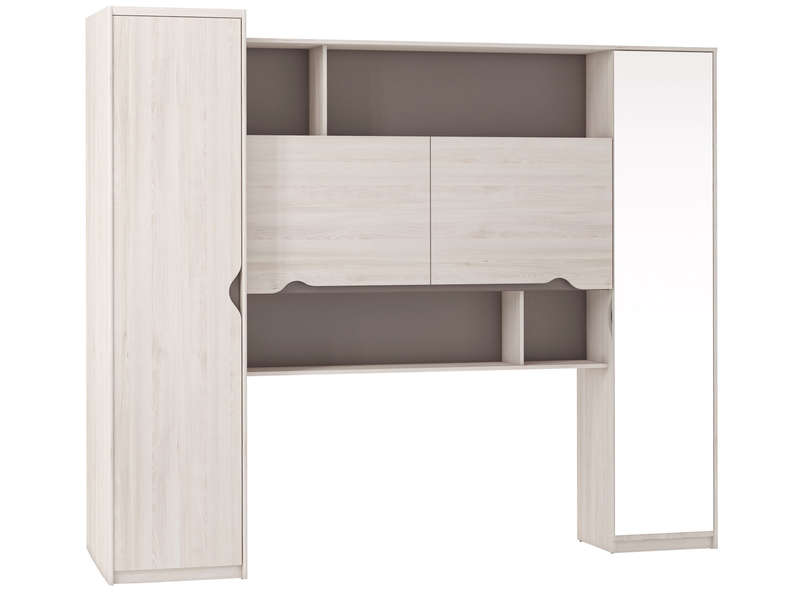 pont pour lit 140 cm vision coloris ch ne cypr s vente. Black Bedroom Furniture Sets. Home Design Ideas