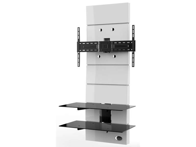 meuble tv meliconi ghost design 3000 blanc vente de meuble tv conforama. Black Bedroom Furniture Sets. Home Design Ideas
