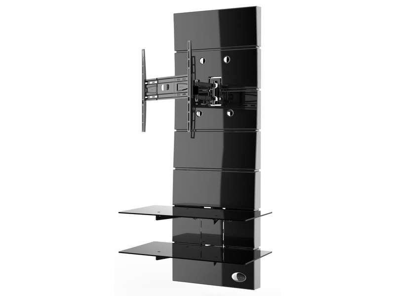 meuble tv meliconi ghost design 3000 r noir chez conforama. Black Bedroom Furniture Sets. Home Design Ideas