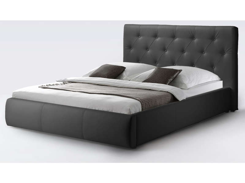 lit 140x190 cm clara coloris noir vente de lit adulte conforama. Black Bedroom Furniture Sets. Home Design Ideas