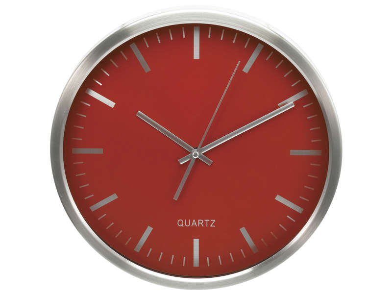 Horloge 30 cm clocky coloris rouge vente de horloge conforama for Pendule rouge cuisine