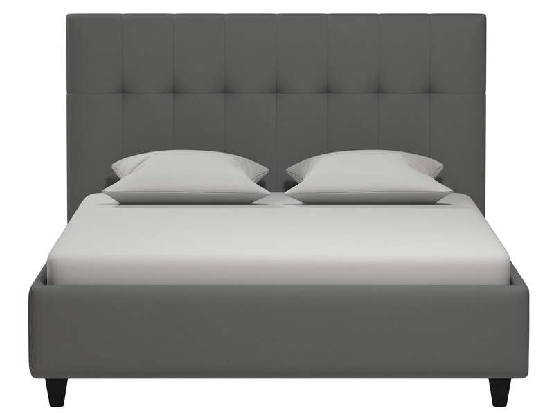 lit adulte 140x190 cm capries coloris gris silex vente. Black Bedroom Furniture Sets. Home Design Ideas