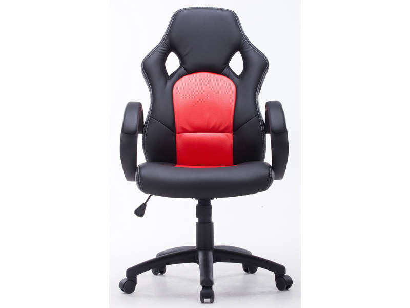 fauteuil de bureau driver coloris noir rouge vente de fauteuil de bureau conforama. Black Bedroom Furniture Sets. Home Design Ideas