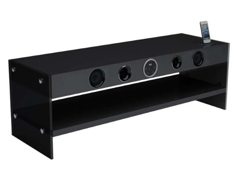 meuble tv sound vision soundstand 300b chez conforama. Black Bedroom Furniture Sets. Home Design Ideas