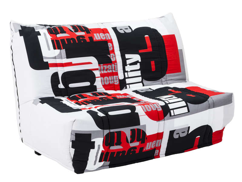 banquette bz en tissu elea coloris rouge vente de. Black Bedroom Furniture Sets. Home Design Ideas