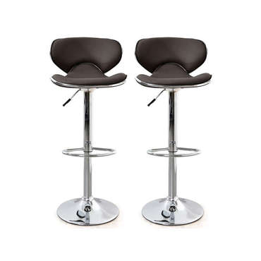 lot de 2 tabourets de bar arno coloris chocolat pas cher avis et prix en promo. Black Bedroom Furniture Sets. Home Design Ideas