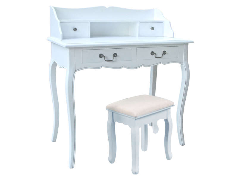 maison du monde coiffeuse josephine meuble de maquillage coiffeuse commode de maquillage table. Black Bedroom Furniture Sets. Home Design Ideas