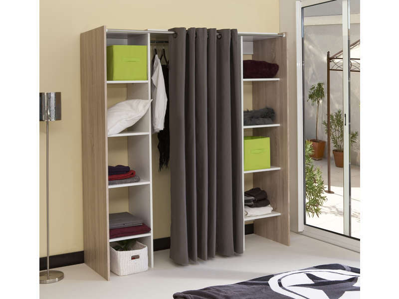 dressing extensible avec rideau vente de armoire. Black Bedroom Furniture Sets. Home Design Ideas