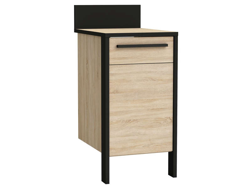 meuble bas l cm with meuble bas cuisine profondeur 30 cm. Black Bedroom Furniture Sets. Home Design Ideas