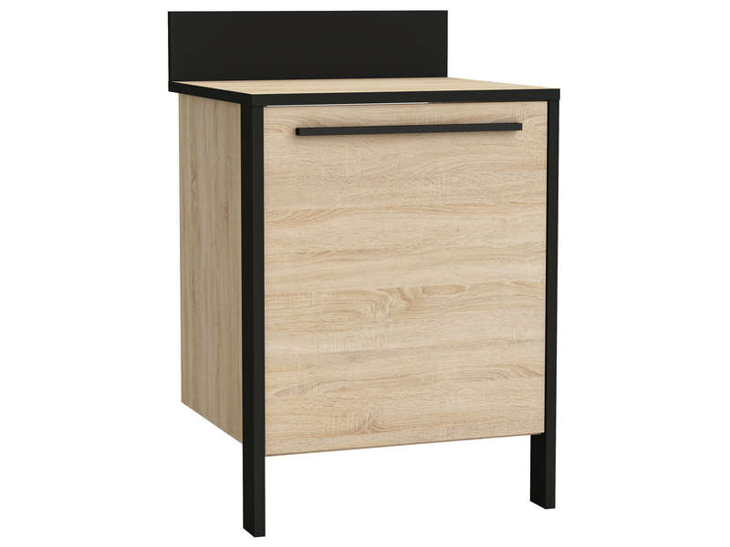 Armoire bureau conforama meuble bas porte l cm with for Meuble bas bureau