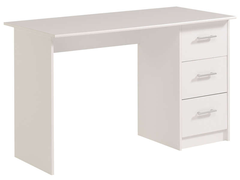 bureau 3 tiroirs infinity coloris blanc vente de bureau. Black Bedroom Furniture Sets. Home Design Ideas