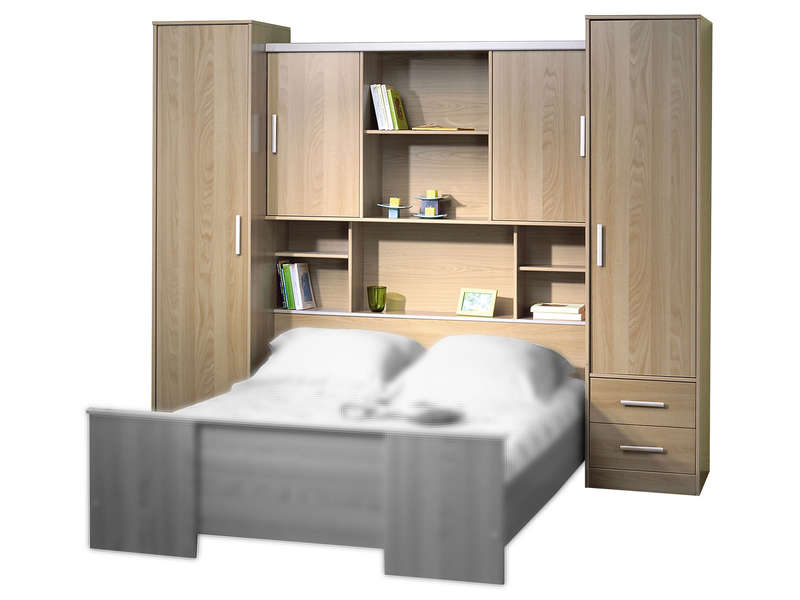 pont pour lit 140 cm arika coloris bois. Black Bedroom Furniture Sets. Home Design Ideas