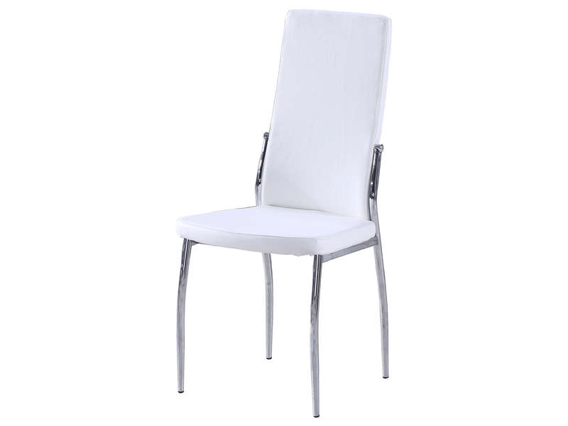 chaise first 2 coloris blanc vente de chaise conforama