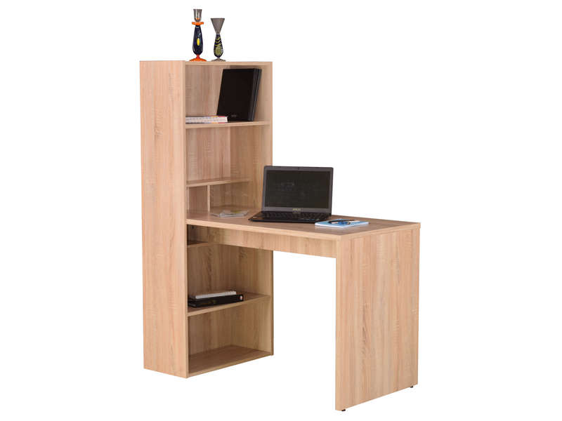 Mobilier table meuble bureau informatique conforama for Meuble d angle ordinateur