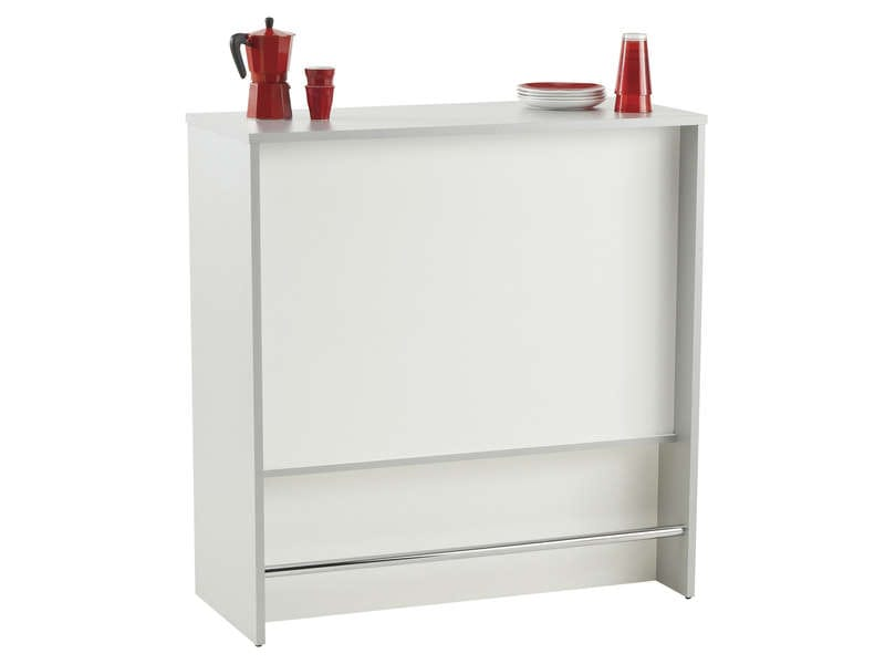 El ment bar spoon blanc vente de meuble bas conforama for Meuble de cuisine a conforama
