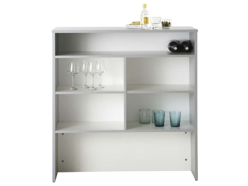 El ment bar spoon blanc vente de meuble bas conforama for Meuble bar separation cuisine
