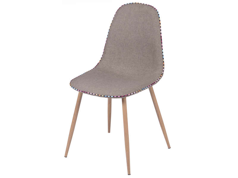 Chaise charlton coloris taupe vente de chaise conforama for Chaise conforama