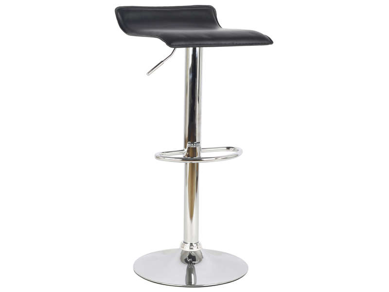 tabouret de bar chrome 2 coloris noir chez conforama. Black Bedroom Furniture Sets. Home Design Ideas