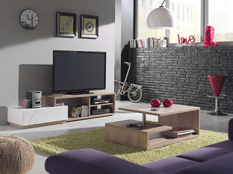 meuble tv malcolm vente de meuble tv conforama. Black Bedroom Furniture Sets. Home Design Ideas