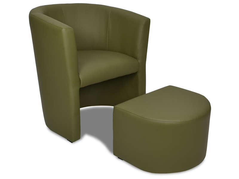 cabriolet pouf manon coloris vert en pu vente de tous les fauteuils conforama. Black Bedroom Furniture Sets. Home Design Ideas