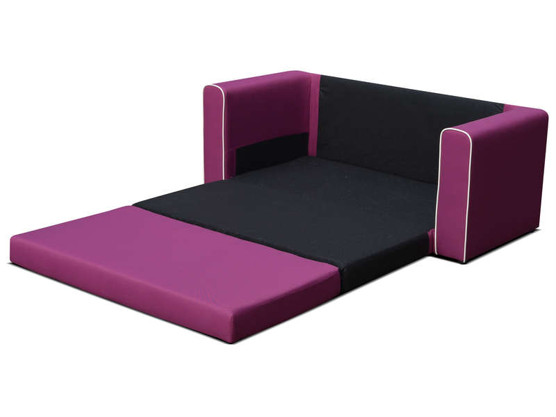 canap fixe convertible 2 places en tissu laura coloris. Black Bedroom Furniture Sets. Home Design Ideas