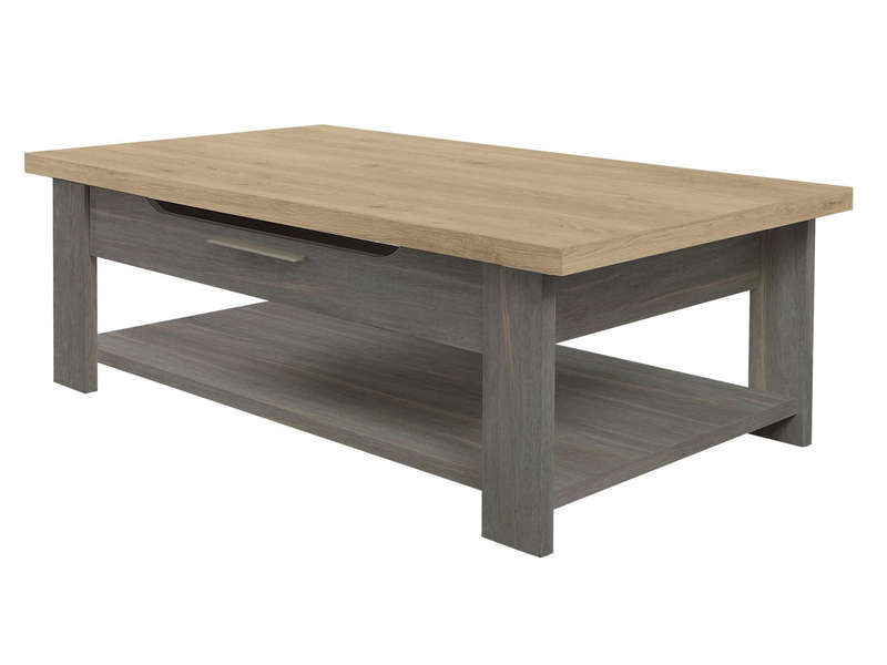table basse rectangulaire toscane gris vente de table basse conforama. Black Bedroom Furniture Sets. Home Design Ideas