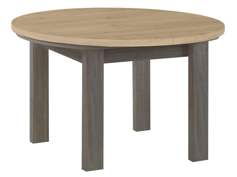table ronde avec allonge 120 cm max toscane coloris gris