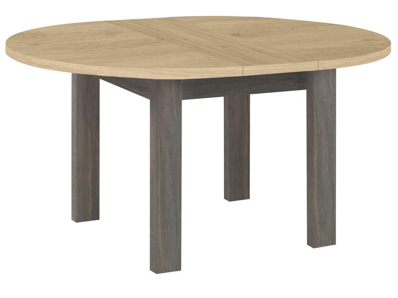 table ronde avec allonge 120 cm max toscane coloris gris vente de table conforama. Black Bedroom Furniture Sets. Home Design Ideas