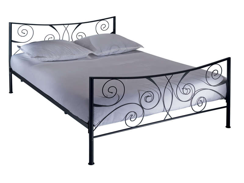 lit adulte 140x190 cm ellipse 2 coloris noir chez conforama. Black Bedroom Furniture Sets. Home Design Ideas