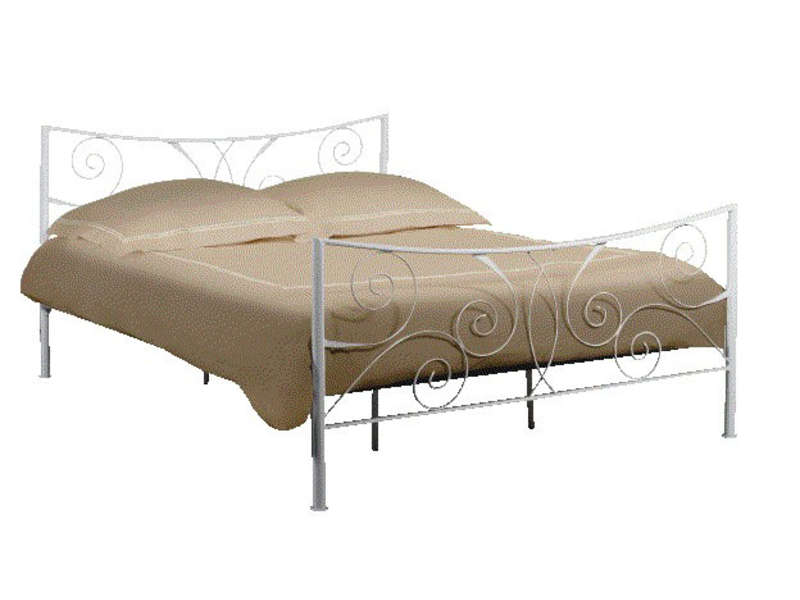 Lit adulte 140x190 cm ellipse 2 coloris blanc vente de for Lit adulte complete solde
