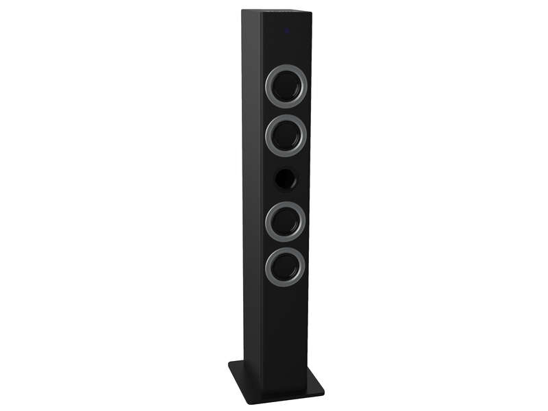 station d 39 accueil tour sound vision tower01 noir vente de enceinte conforama. Black Bedroom Furniture Sets. Home Design Ideas