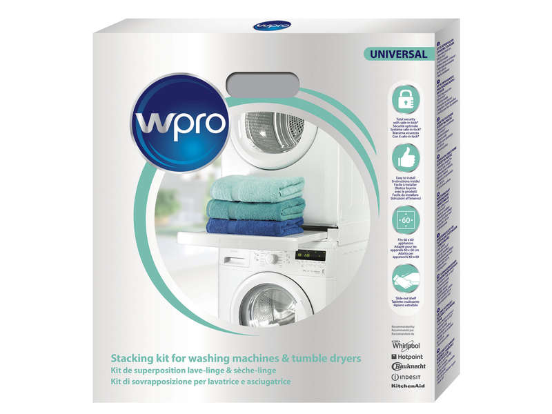 kit de superposition machine a laver et seche linge Kit de superposition WPRO SKS101 - WPRO - Vente de Accessoires de lavage -  Conforama