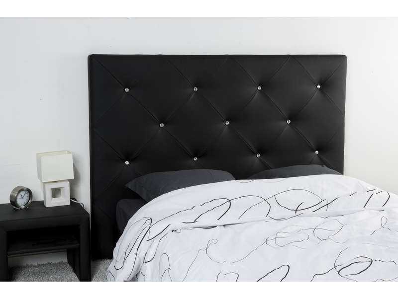t te de lit 165 cm diamond 2 coloris noir vente de t te de lit conforama. Black Bedroom Furniture Sets. Home Design Ideas