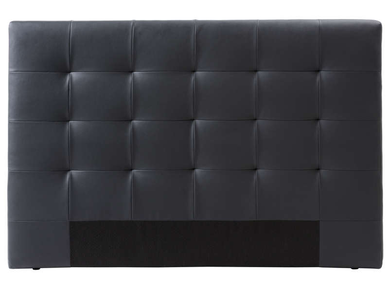 t te de lit 165 cm capiton 3 coloris noir vente de t te de lit conforama. Black Bedroom Furniture Sets. Home Design Ideas