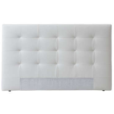 t te de lit 165 cm capiton 3 coloris blanc vente de t te de lit conforama. Black Bedroom Furniture Sets. Home Design Ideas