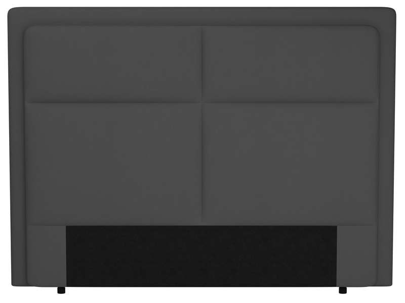t te de lit 200 cm electra coloris gris en pu vente de t te de lit conforama. Black Bedroom Furniture Sets. Home Design Ideas