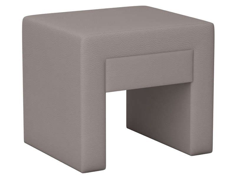 Chevet 1 tiroir en pu coloris taupe vente de chevet - Table de chevet en simili cuir ...
