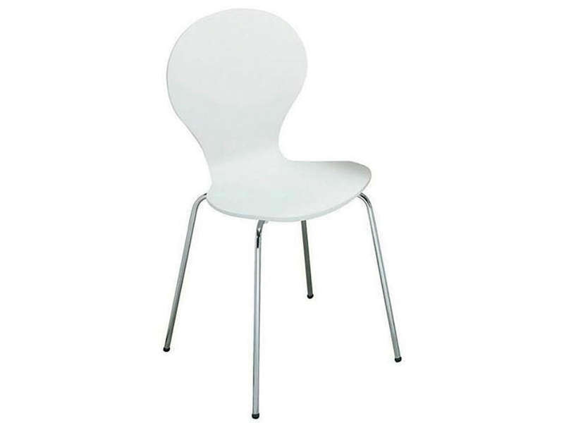 Chaise de cuisine moon 2 coloris blanc vente de chaise for Chaise blanche conforama