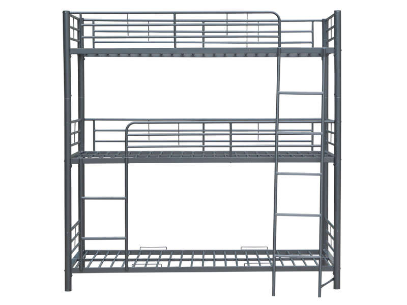 lit mezzanine 90x200 cm montana ch ne gris pas cher avis et prix en promo. Black Bedroom Furniture Sets. Home Design Ideas
