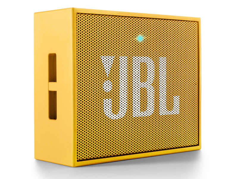 Mini enceinte portable bluetooth J B L GO coloris jaune