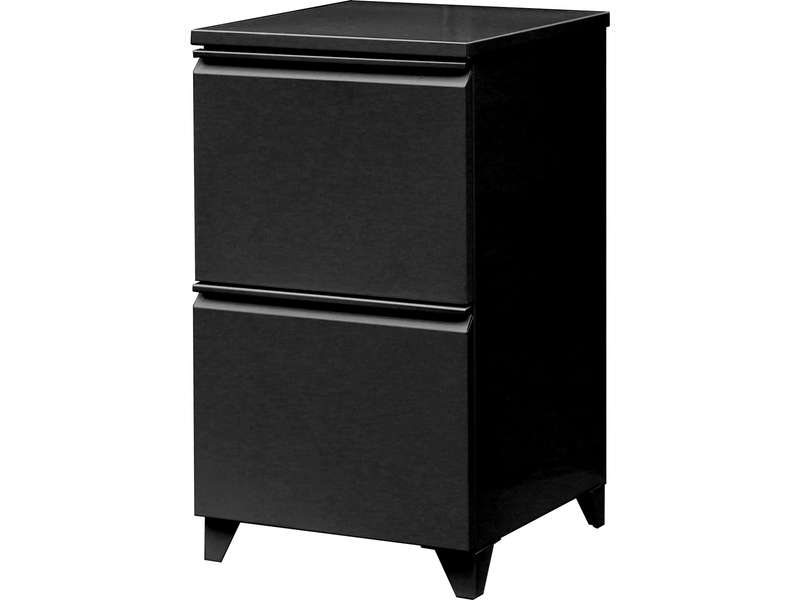 caisson 2 tiroirs primo coloris noir vente de accessoires de bureau conforama. Black Bedroom Furniture Sets. Home Design Ideas
