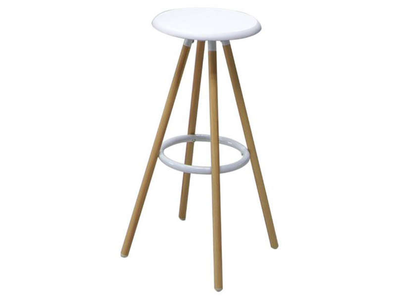 tabouret de bar de cuisine novi coloris blanc vente de. Black Bedroom Furniture Sets. Home Design Ideas