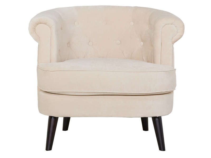 fauteuil capitonn en tissu felix coloris beige vente de. Black Bedroom Furniture Sets. Home Design Ideas