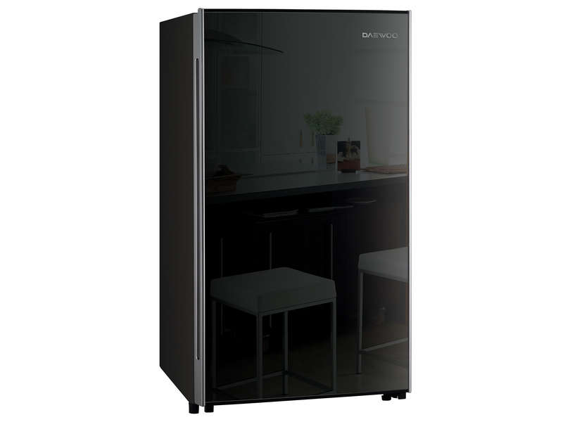 frigo top noir table de cuisine. Black Bedroom Furniture Sets. Home Design Ideas