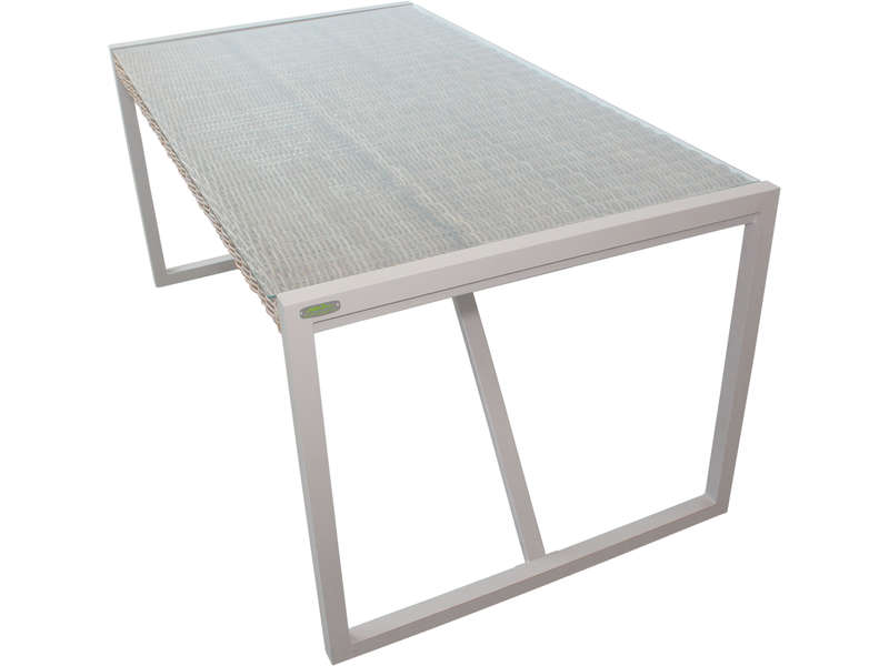 Table de jardin rectangulaire 160 cm MALACCA coloris gris