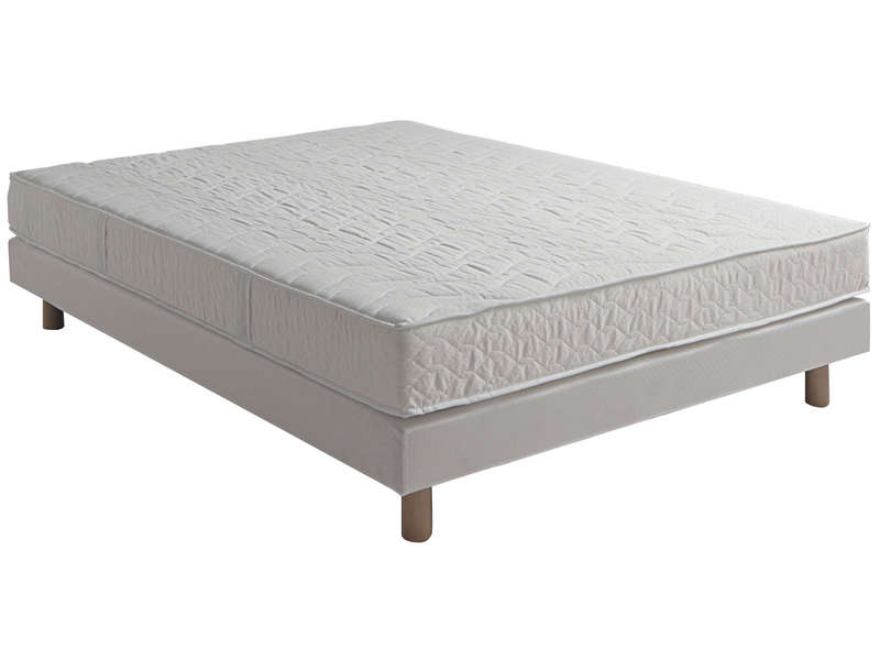 matelas sommier 140x190 cm mousse confobed topaze vente de ensemble matelas et sommier. Black Bedroom Furniture Sets. Home Design Ideas