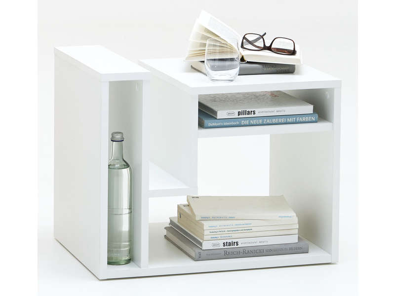Table d 39 appoint fritz coloris blanc vente de table basse for Bout de canape laque blanc