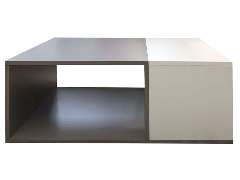table basse rectangulaire kub coloris taupe blanc vente de table basse conforama. Black Bedroom Furniture Sets. Home Design Ideas